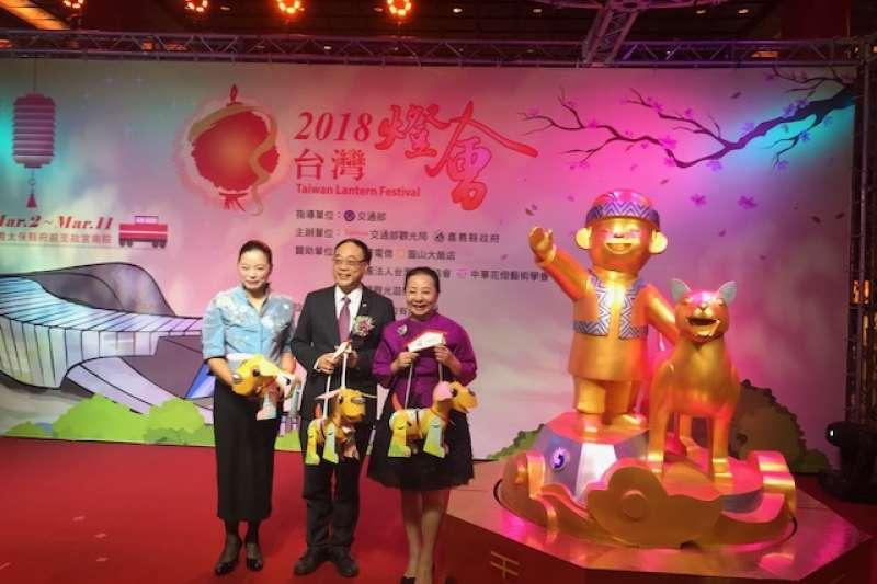 2018台灣燈會訂於3月2日元宵節當日晚間7時,主燈「忠義天成」台灣犬4日亮相。(交通部觀光局提供)
