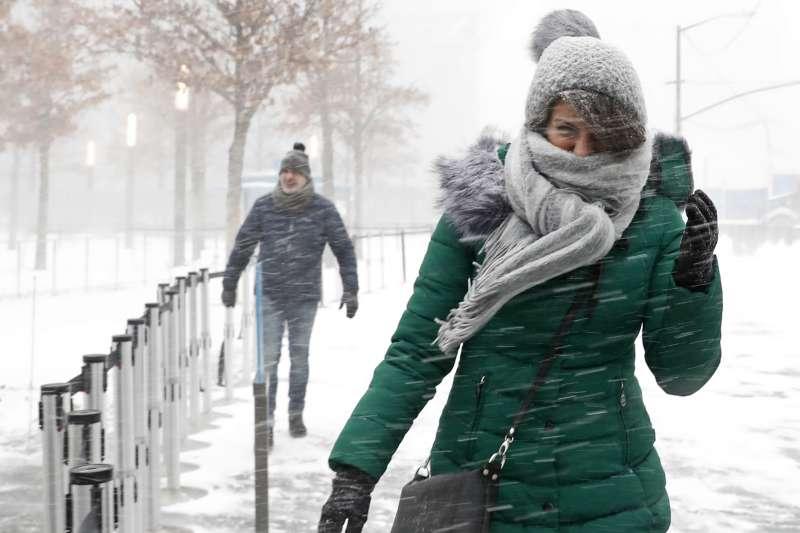 2018年1月,「炸彈氣旋」暴風雪席捲美國(AP)