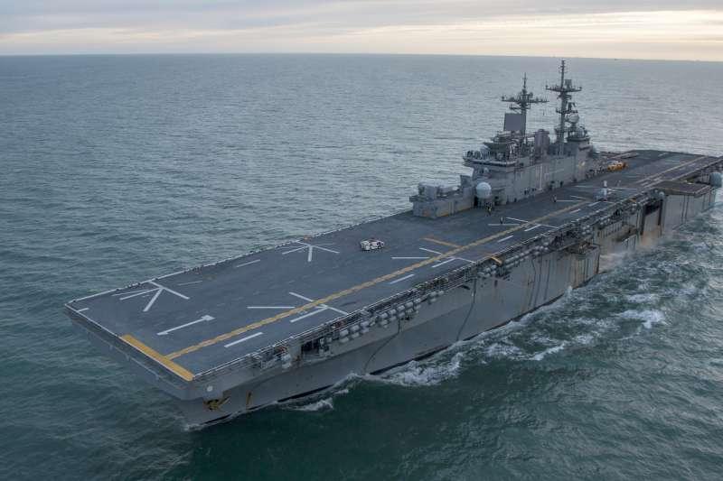 美軍胡蜂級兩棲突擊艦胡蜂號(USS WASP LHD 1)。(美國海軍官網)