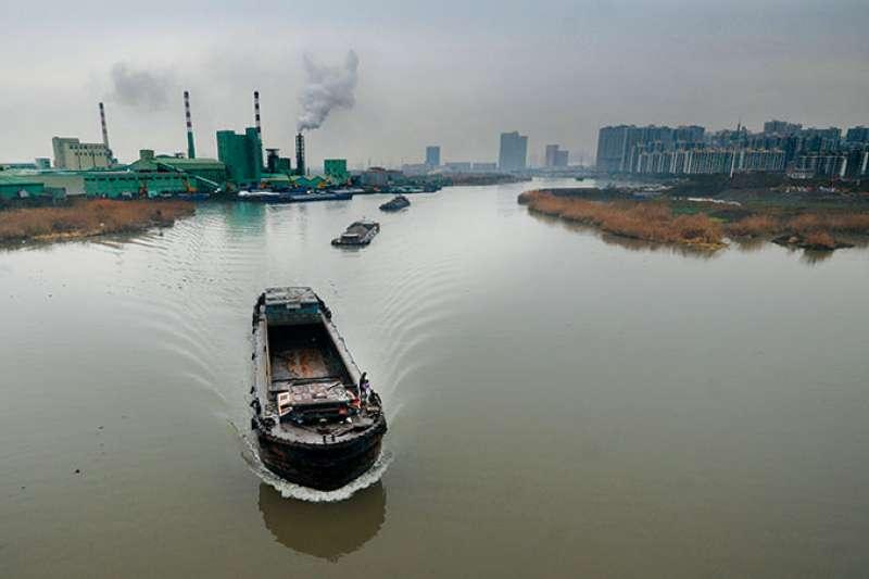 崑山吳淞江,因這條125公里的河,竟差點令逾百家台商停產。(商業周刊程思迪攝影)