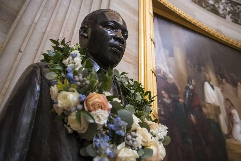 美國黑人民權領袖馬丁路德金恩博士雕像(AP)