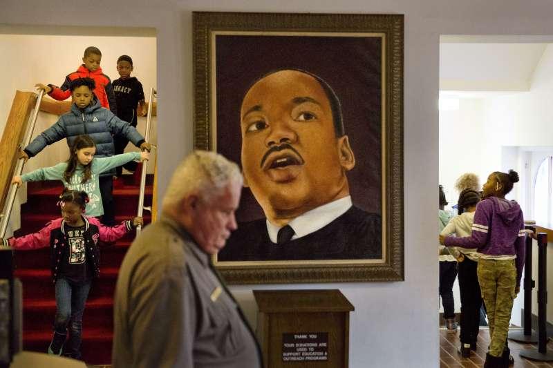 美國黑人民權領袖馬丁路德金恩博士畫像(AP)