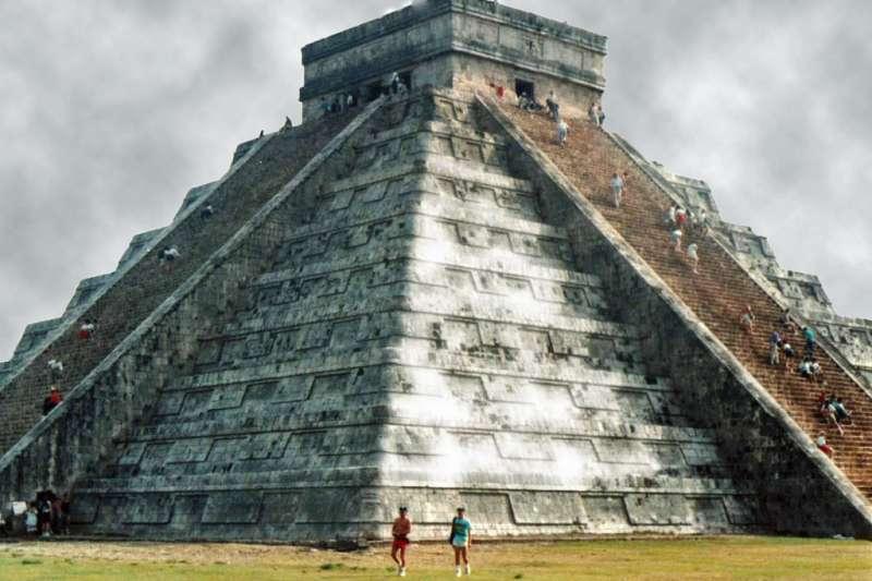 阿茲提克式金字塔。(圖/Ted Van Pelt@flickr)