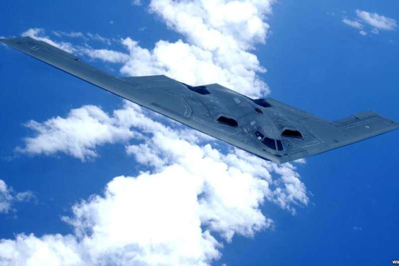 美軍B-2匿蹤戰略轟炸機。(美國之音)