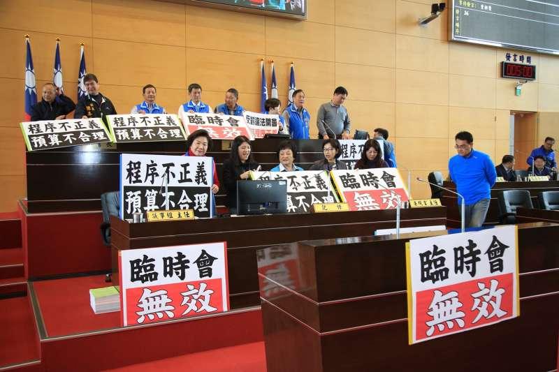 國民黨市議員杯葛台中市政府預算。(讀者提供)