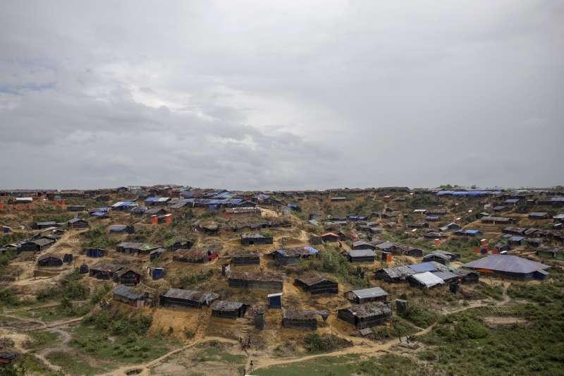 位於孟加拉的羅興亞難民營。(美聯社)