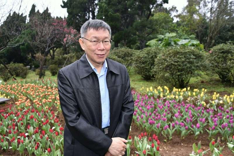 針對國民黨立委蔣萬安宣布棄選台北市長,台北市長柯文哲表示,「不以物喜不以己悲」。(北市府提供)