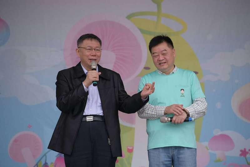 針對民進黨大老辜寬敏表示,民進黨沒人能拚得過柯,台北市長柯文哲表示,這些政治老前輩講話都滿有趣的。(北市府提供)