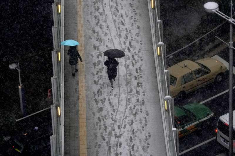 22日的東京一景。(美聯社)
