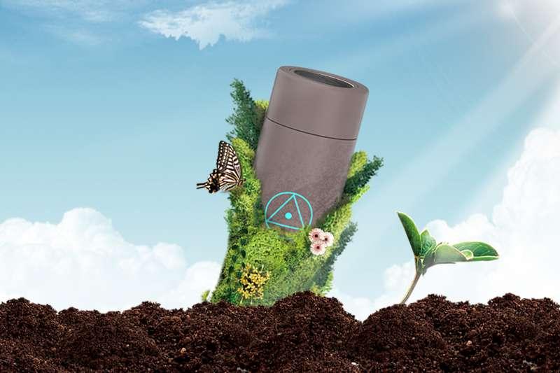 瓶身獨特材質設計能留下養分,沒有垃圾,形成永續循環(圖/shan│善 提供)