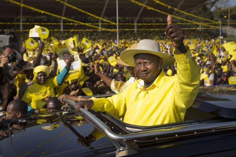 烏干達總統穆塞韋尼,毫不保留他對美國總統川普的仰慕。(美聯社)
