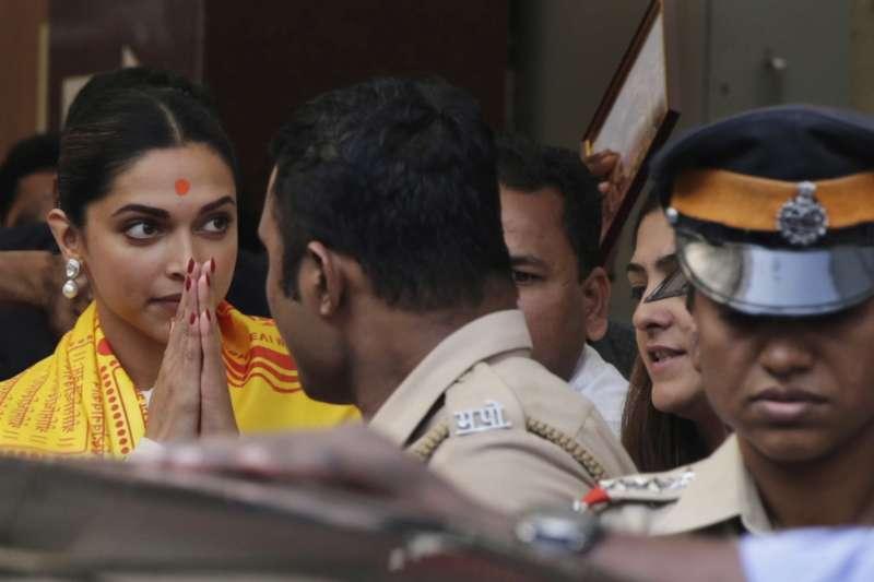 《帕德瑪瓦特》電影女主角帕杜珂內(Deepika Padukone)。(美聯社)