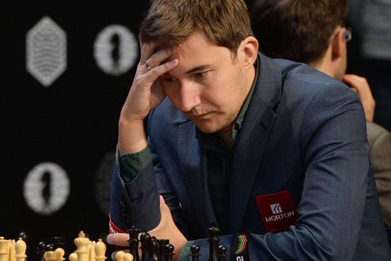 俄羅斯西洋棋大師謝爾蓋·卡利亞金。(俄羅斯衛星通訊社)