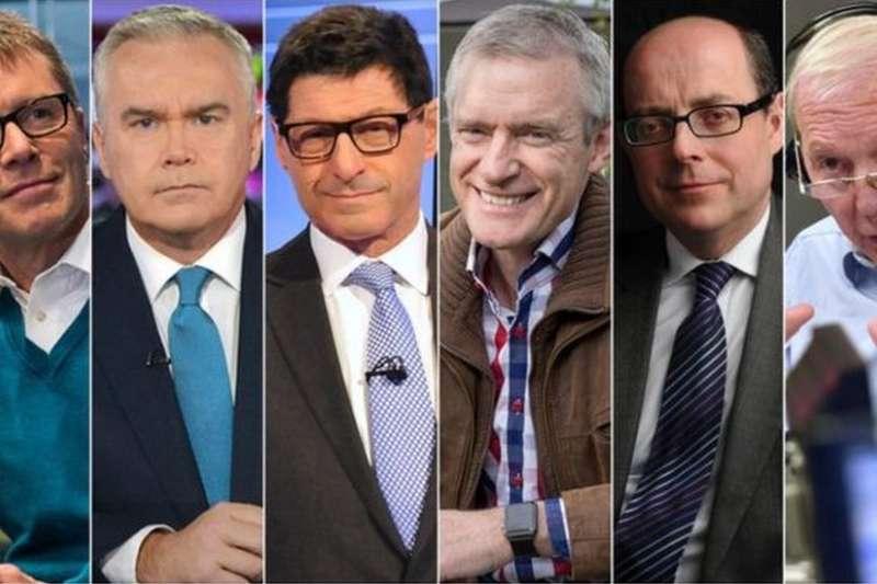 從左至右依次為:尼基·坎貝爾、休·愛德華茲、喬恩·索佩爾、傑瑞米·韋恩、尼克·羅賓遜、約翰·漢弗萊斯。(BBC中文網)