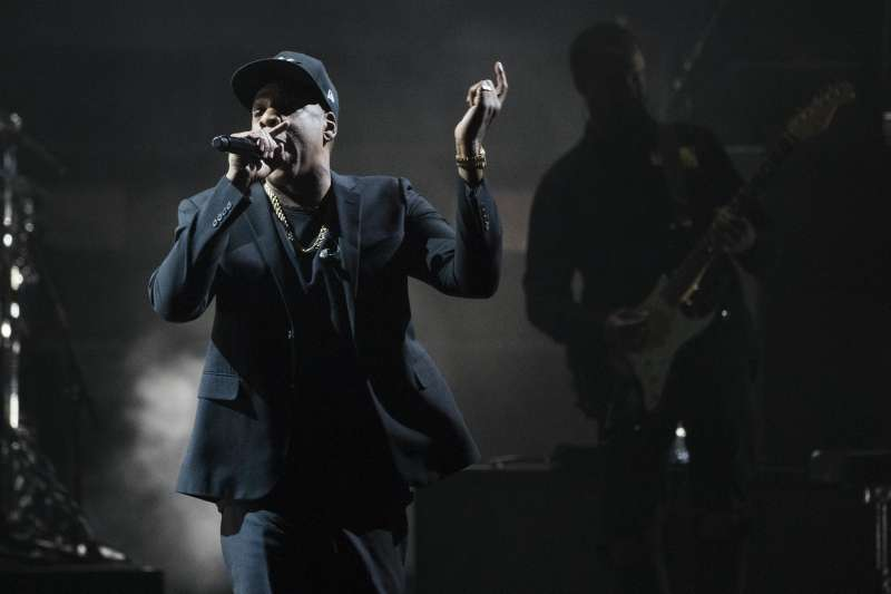 美國饒舌巨星Jay-Z,批評美國總統川普種族歧視。(美聯社)