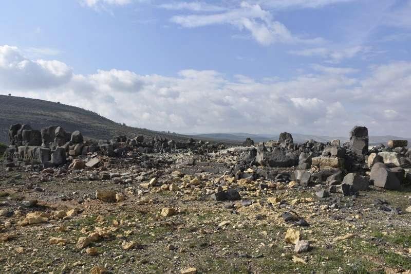 敘利亞一座超過3000年歷史的艾因達拉神廟,近日在土耳其軍隊轟炸下被摧毀。(美聯社)