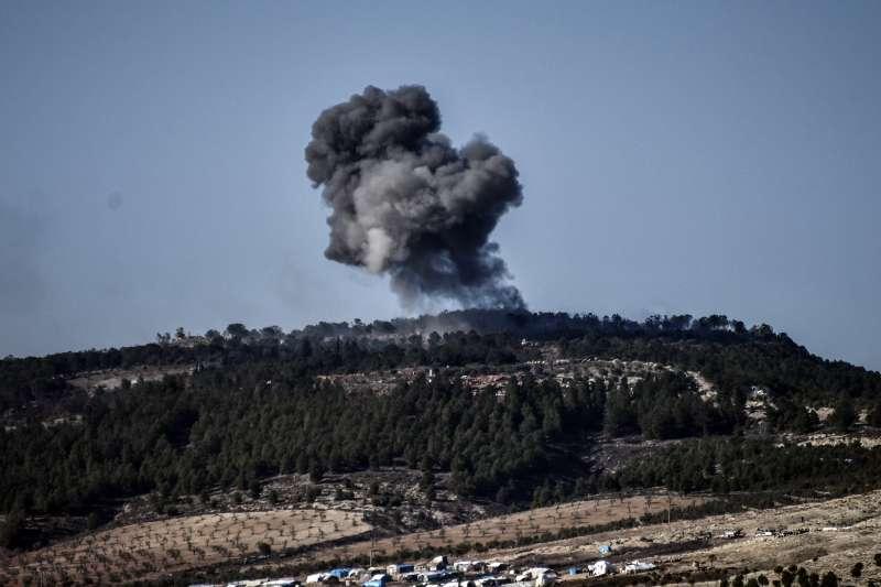 土耳其近日對敘利亞北部邊界的庫德族民兵發動攻擊。(美聯社)