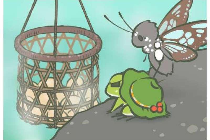 旅行青蛙。