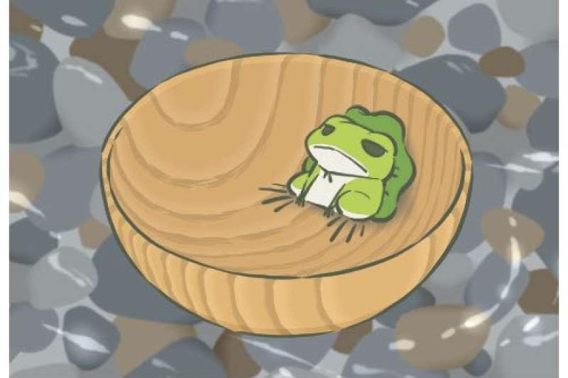 日本手遊「旅行青蛙」在中國爆紅(取自網路)