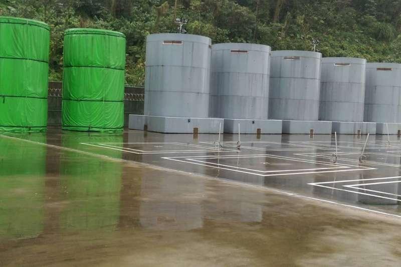 圖為核一乾式貯存桶。(台電提供)