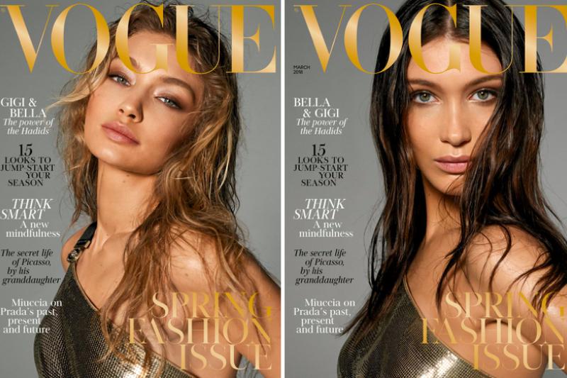 瑪姆葛倫研判,《VOGUE》以超級名模裸身做為封面,可能代表服飾產業從設計、製造到零售等整體商業模式,到了必須重新思考與改變的關鍵時刻。圖為英國版3月號《VOGUE》封面。(取自《VOGUE》網站)