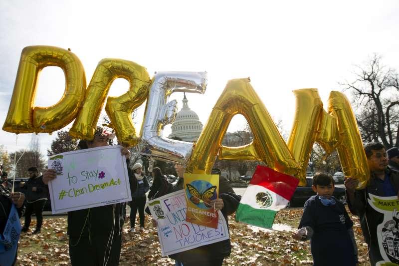 美國總統川普國情咨文。逐夢者計畫,移民,DACA。(美聯社)