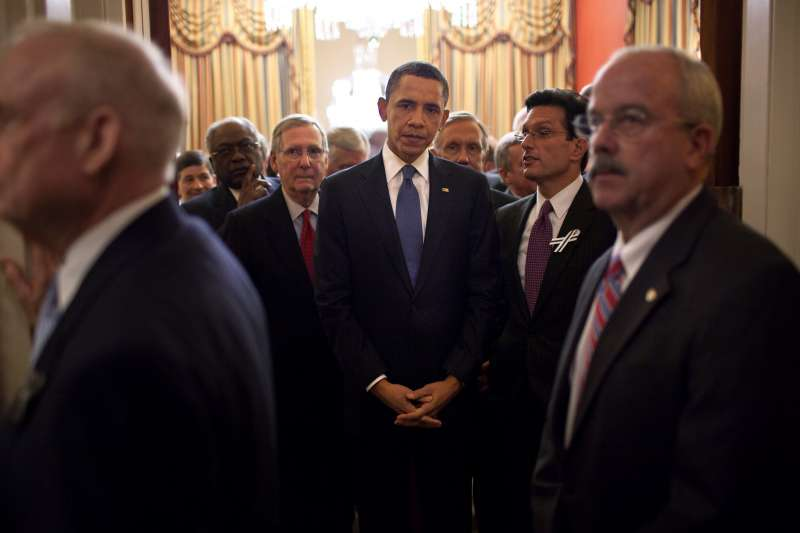歐巴馬總統2011年進行國情咨文演說的前一刻(Wikipedia / Public Domain)