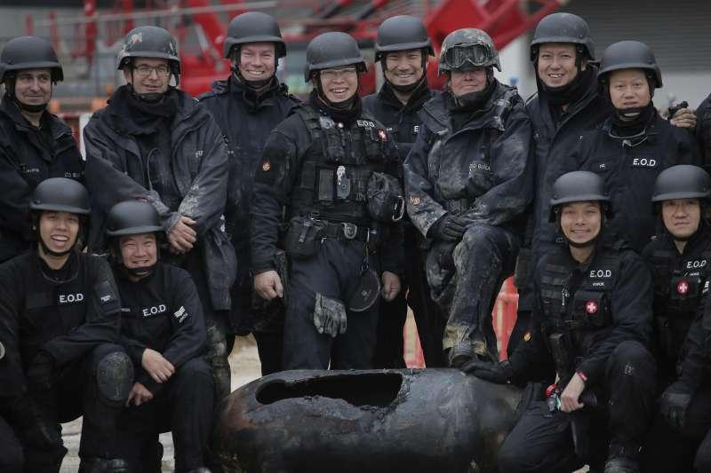 2018年2月1日,香港警方再次成功拆除一枚二戰遺留的千磅美製炸彈(AP)