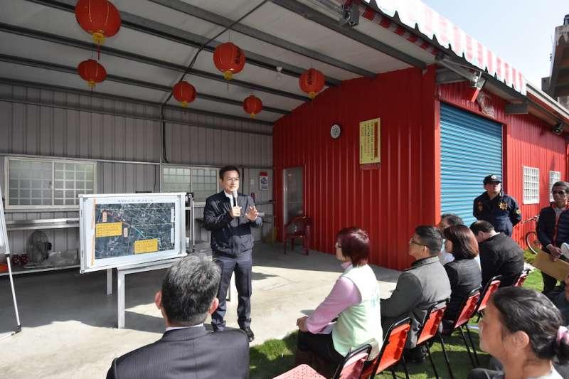 魏明谷表示,將在任期內完成治水工程。(圖/彰化縣政府提供)