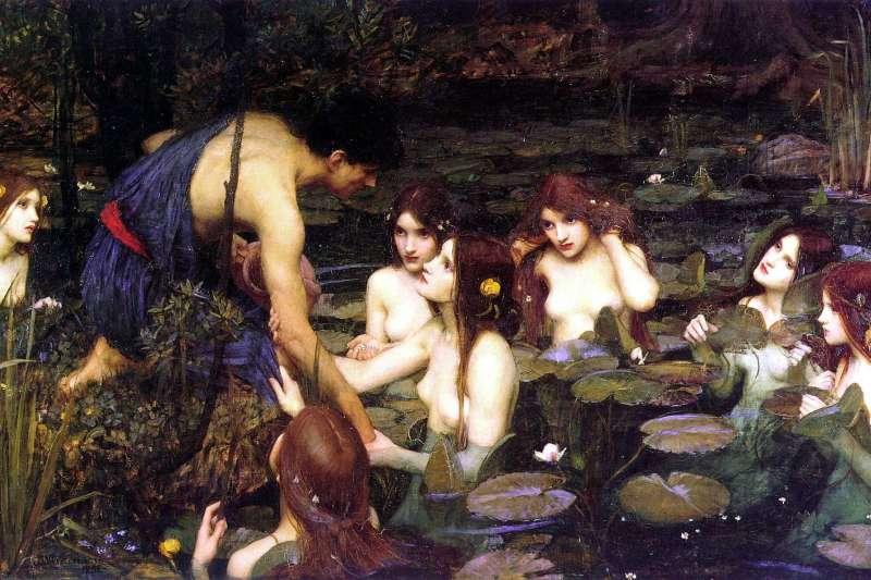 英國的曼徹斯特美術館近日撤下19世紀名畫《海拉斯與水仙》(Wikipedia/Public Domain)