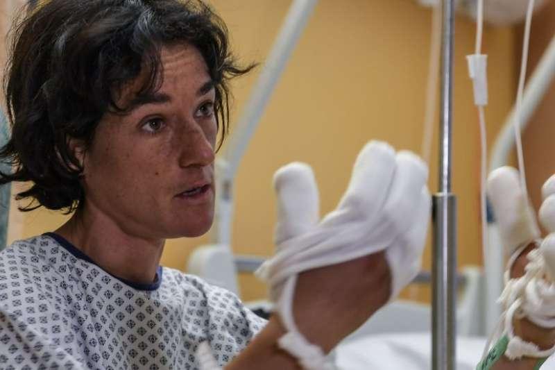 在喜瑪拉雅山脈遭遇山難的法國女登山客雷沃爾,恐需截肢。(BBC中文網)