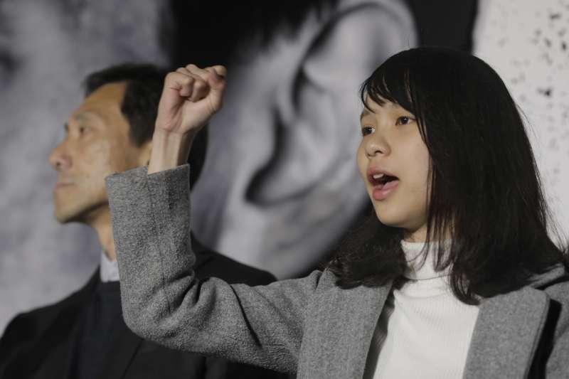 香港新世代政治領袖周庭,因主張「民主自決」失去議員資格。(AP)