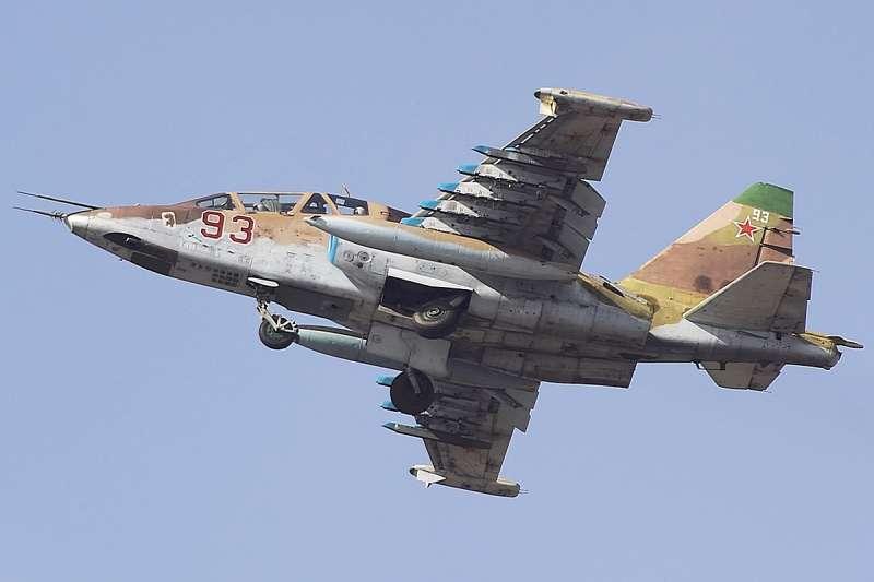俄羅斯空軍「蘇愷25」(Sukhoi Su-25)戰機(Aleksandr Markin@Wikipedia / CC BY-SA 2.0)