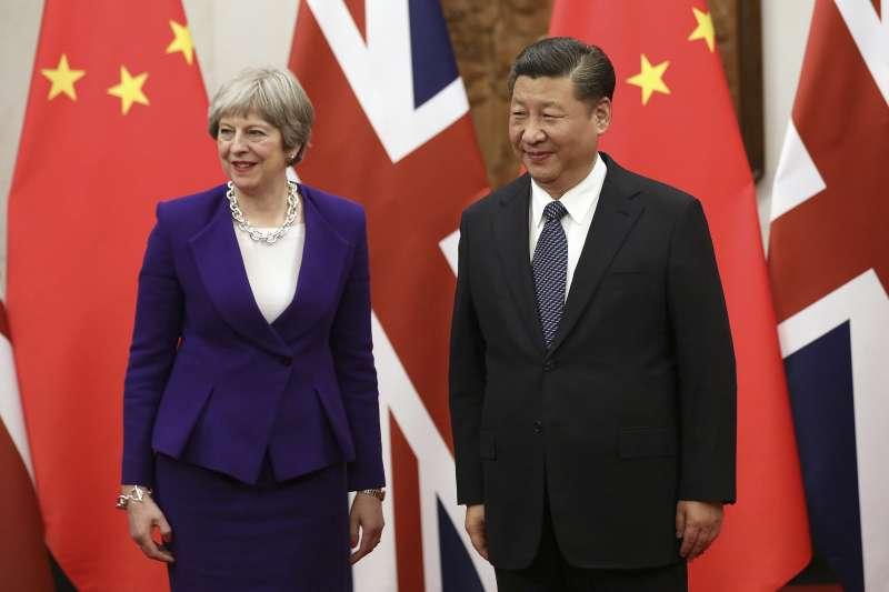 英國首相梅伊與中國國家主席習近平(AP)