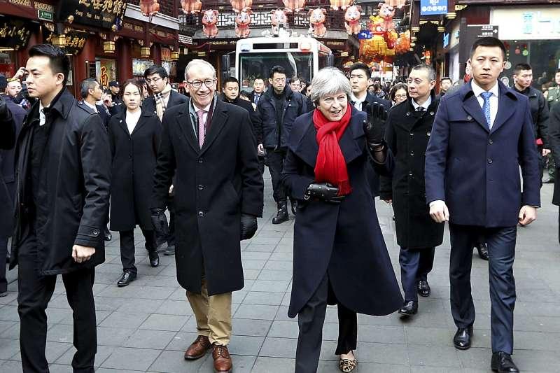英國首相梅伊訪問中國,對一帶一路計畫沒有正面回應(AP)