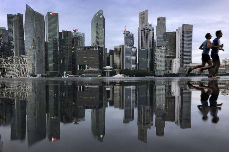 新加坡金融區的天際線(AP)
