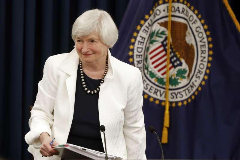 前聯準會主席葉倫曾經表示,通膨率未能隨經濟復甦而上升是一個謎團。(資料照,美聯社)