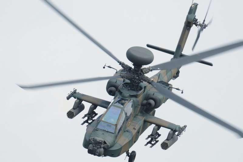 日本陸上自衛隊的阿帕契攻擊直升機AH-64。(陸上自衛隊官網)