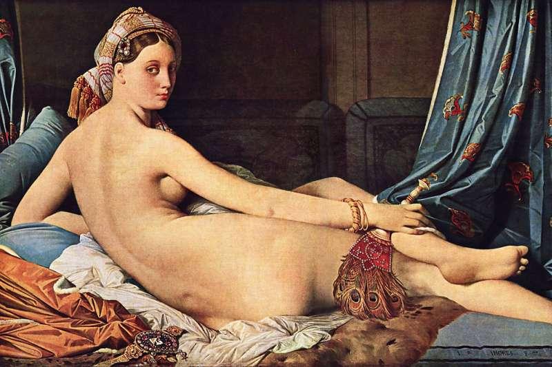 法國畫家安格爾名畫–大宮女。(圖/維基百科)