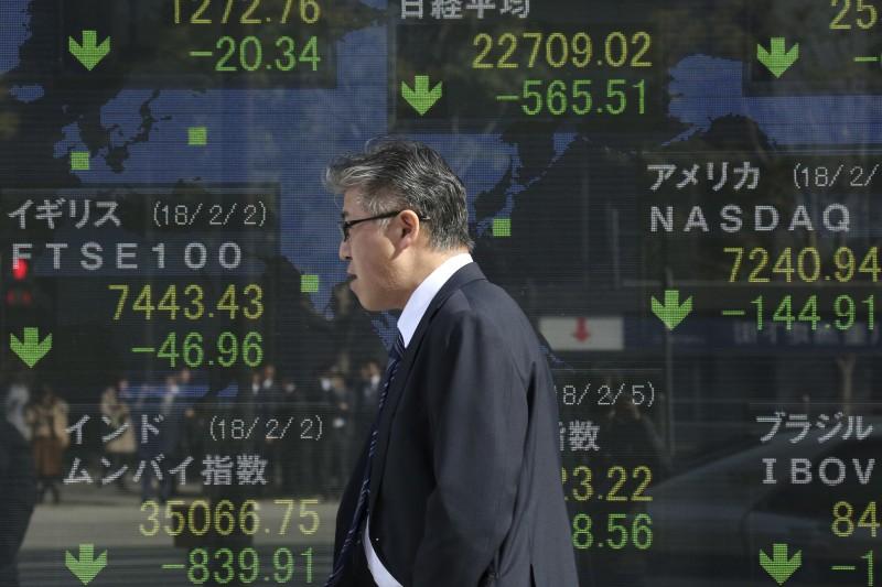 美股打噴嚏,全球股市都感冒。(資料照,美聯社)