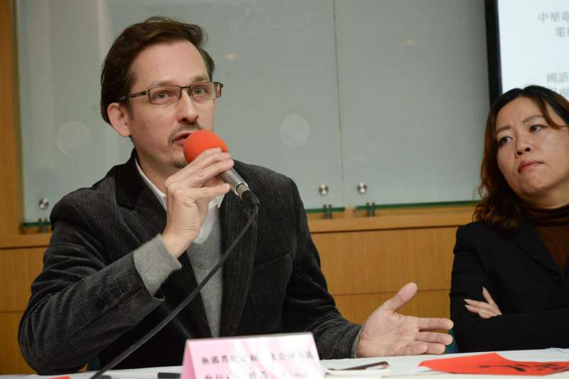 無國界記者組織東亞辦事處執行長艾瑋昂(Cédric Alviani)。(台灣媒體觀察教育基金會提供)