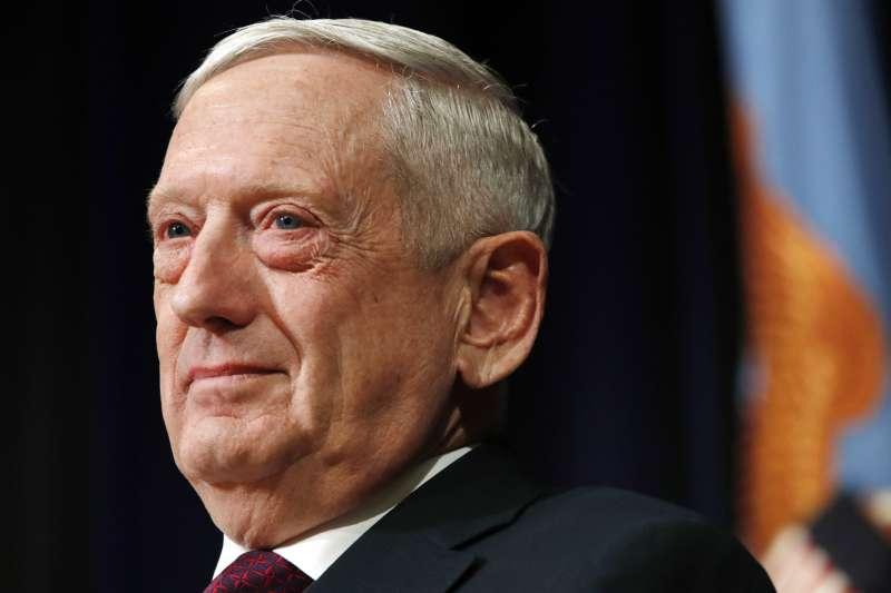 美國國防部長馬提斯。(美聯社)