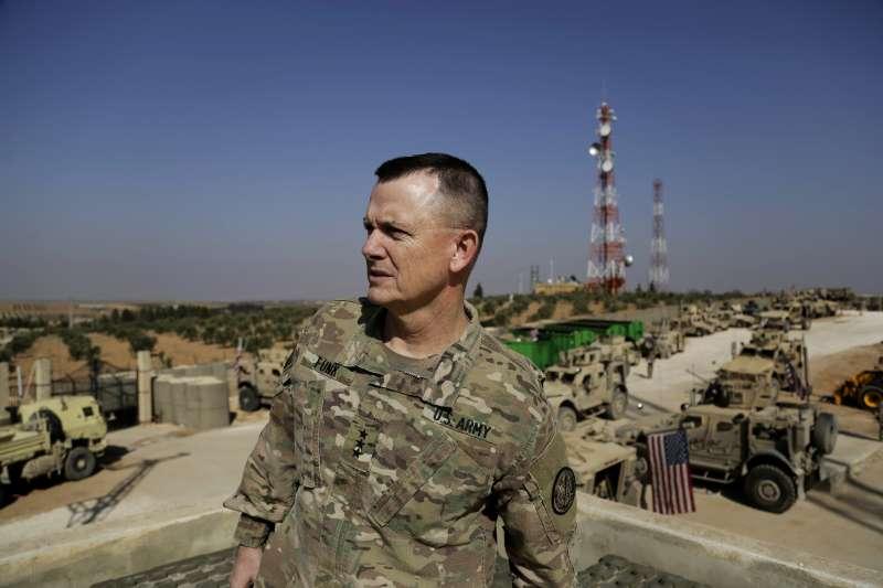 美國打擊伊斯蘭國聯軍司令方克中將(AP)
