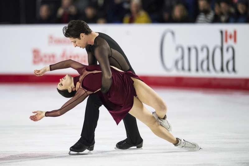 奧運冰舞選手Tessa Virtue和Scott Moir (美聯社)