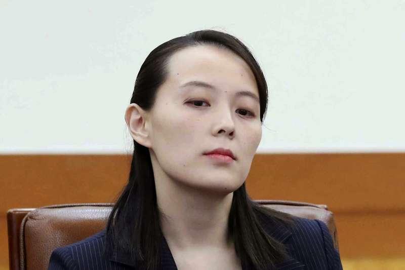 2018年2月10日,北韓領導人金正恩的胞妹金與正訪問南韓總統府青瓦台(AP)
