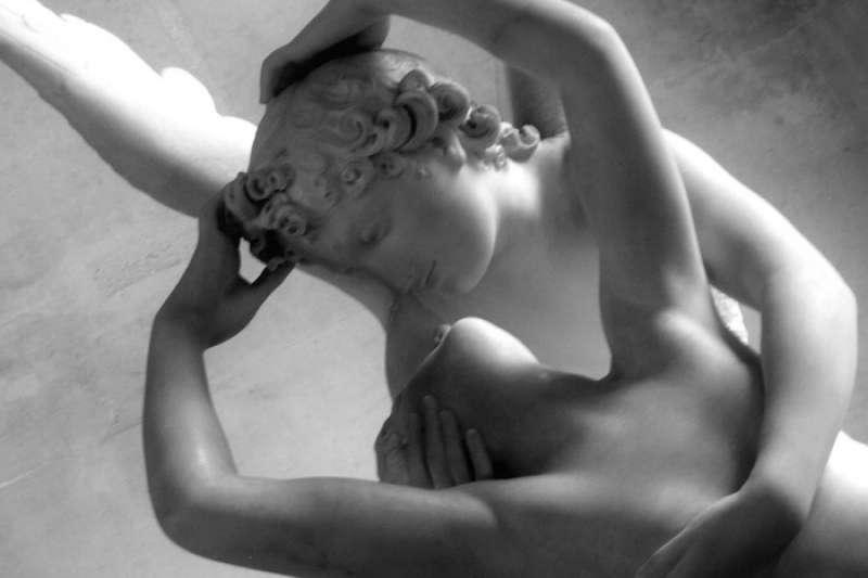 情人節:卡諾瓦的愛神丘比特與普塞珂(翻攝Flickr)