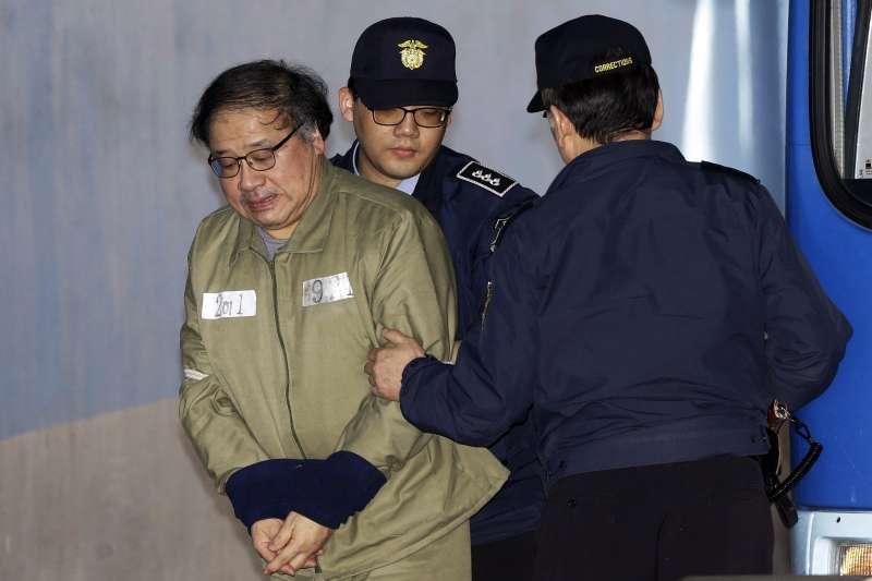 南韓總統府青瓦台前首席秘書安鐘範,一審也被判刑6年,罰款1億韓元。(美聯社)