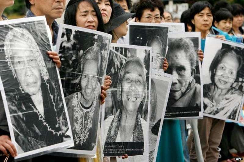 二戰期間曾強徵「慰安婦」的日本也在關注韓國的這起案件。(BBC中文網)