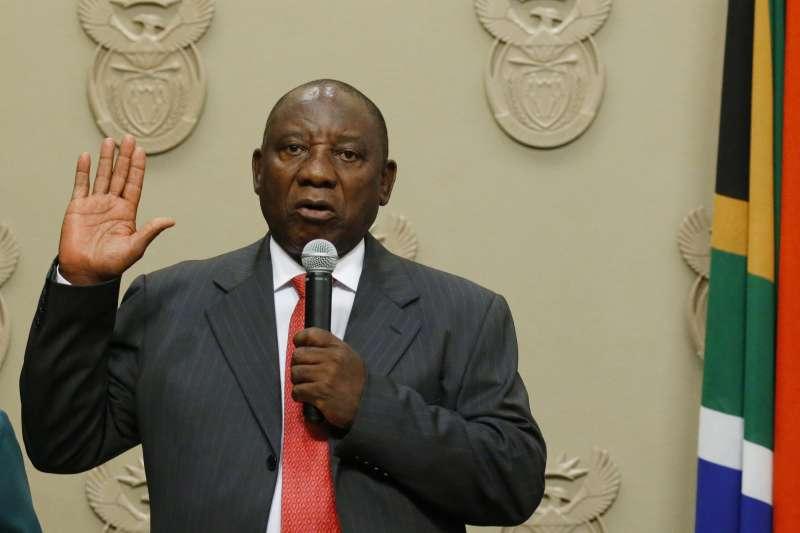 南非新總統拉馬福薩宣誓就職(AP)