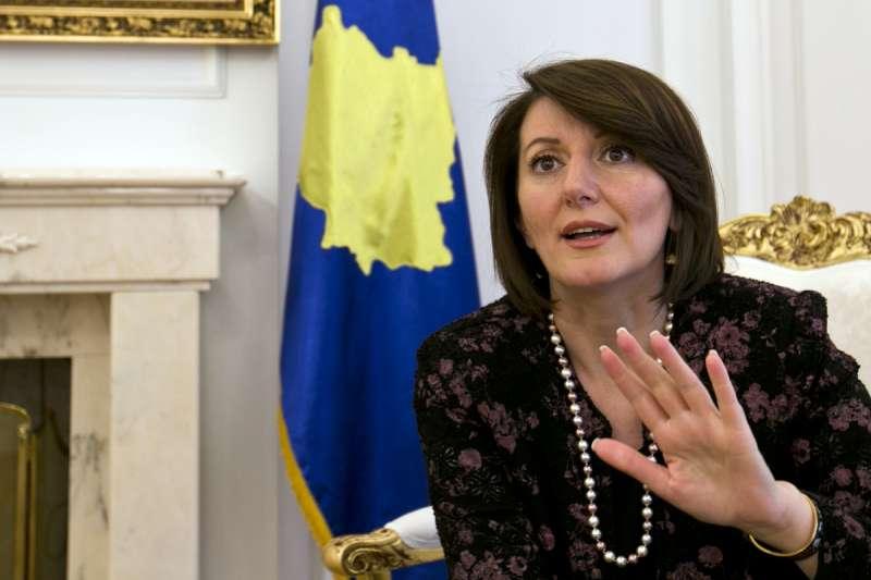 科索沃前總統、首位女總統亞雅加(AP)